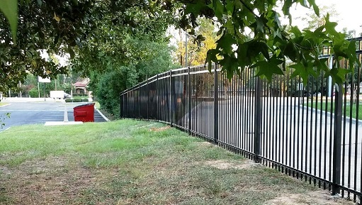 image of commercial fence installation